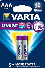 10 x Varta Professional Lithium AA Mignonl 6106 1,5V im 2er Blister altes Design