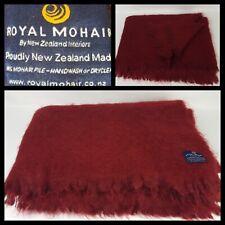 Royal Mohair New Zealand 100% Mohair Berry Throw Rug Blanket