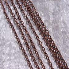 5M CHAINE FORCAT 4mm x 3mm MÉTAL COULEUR CUIVRE perles colliers bracelets *Q14