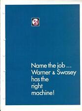 Equipment Brochure - Warner & Swasey - Gradall Backhoe Crane Overview (E5642)