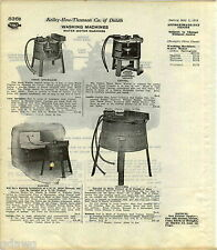 1916 ADVERT Arwin Capital Success National Water Motor Washing Machine Wooden