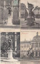 Lot 4 cartes postales anciennes CHÂLONS-SUR-MARNE statues