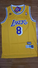 Kobe Bryant Los Angeles Lakers 8 Gold Yellow Swingman Basketball Jersey Large L