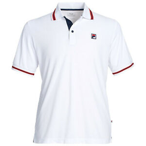Fila Polo Shirts Button Piro Men's White