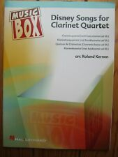 Disney Songs for Clarinet Quartet Score and Parts *NEW* Publisher Hal Leonard