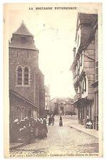 CPA 22 - SAINT BRIEUC (Côte d'Armor) - A. W. 1215. Cathédrale et Vieilles Maison