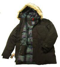 Polo Ralph Lauren Men's Black Faux Fur Trim Puffer Down Parka Hooded Jacket $498