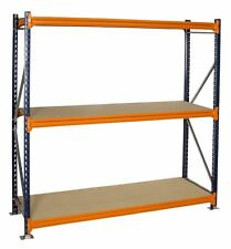 MECALUX  1825mm x 600mm Unit Longspan Shelving Unit 3 Shelves Boltless Shelving