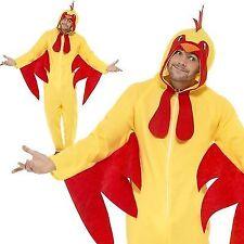 Adulto Disfraz Granja Pájaros Unisex Oesie de pollo Vestido de fantasía Traje Medio