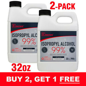 Rubbing Alcohol 99% Pure Antiseptic (Isopropyl Alcohol 99%) - 64oz (1/2 Gallon)