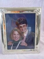 """Silver Tone Picture Frame 10.5"""" x 12"""""""