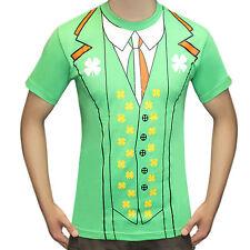 Unisex Irish St Patrick's Print Day T Shirt Stag Do Fancy Dress Shirts Large