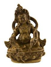 Statue tibetaine Kubera Jambhala Dieu des Richesses Vaishravana 10cm beige 25530