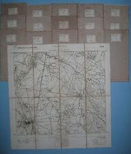 Carta topografica CARMAGNOLA NONE BRA SANFRE' VINOVO  F° 68 in 16 parti  1880