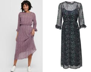 JDY oNlY Midikleid Dress JDYSIBEL JACQUELINE DE YOUNG Chiffon Tunika KLEID 34,99