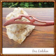 Haarnadel Geschnitzt Holz Herzen Braun 17,5 cm Neu ❤ ❤️ Haarstab