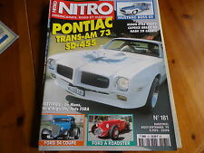 NITRO 181 PONTIAC TRANS-AM 73 - MUSTANG BOSS 69 - FORD 34 - FORD A comme neuf