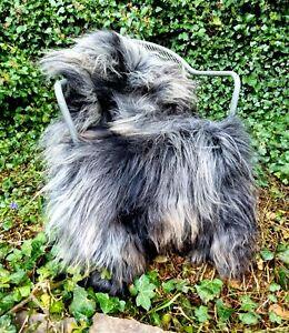 XXXL THE BIGGEST Black & Grey Icelandic Sheepskin Rug A+++ 135cm by 90cm (470)