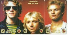 RARE / PUZZLE 3 CARTES TELEPHONIQUES - THE POLICE : STING / 3 PHONECARD LIKE NEW