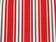 RICHLOOM SORRENTINO PATRIOT STRIPE RED WHITE OUTDOOR MULTIUSE FABRIC BY THE YARD