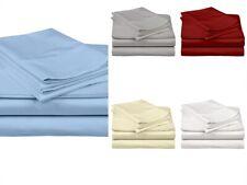 """Soft Linen Percale Cotton Bedding Sheet Set 800 Tc Extra Size & Color 15"""" Drop"""