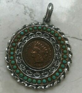 1907 Indian Head Cent Pendant Jewelry