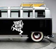 2x Large Tiki man surf surfing vinyl car van graphic decal stickers graphics