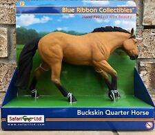 Safari Ltd Blue Ribbon Horses RETIRED Buckskin Quarter Horse 30025 BRAND NEW
