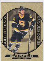 20/21 TIM HORTONS...DAVID PASTRNAK...GOLD ETCHINGS...CARD # G-6...BRUINS