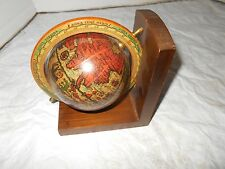Vtg Italian Old World Map Globe Spinning Large Desk Display Wood Nautical Decor