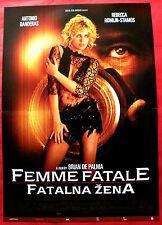 FEMME FATALE 2002 SEXY ROMIJN BANDERAS COYOTE DE PALMA RARE SERBIAN MOVIE POSTE