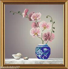 Nova Sloboda HC3122 Orchid pink Embroidery Kit Beaded