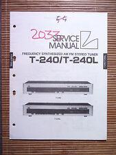 Service Manual pour LUXMAN t-240, original
