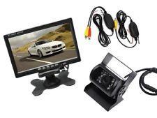 """PDR* Kit Monitor LCD 7"""" Telecamera retromarcia wireless per camper auto rimorchi"""
