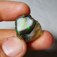 27 Cts NATURAL AAA+WELO PLAY FIRE ETHIOPIAN OPAL ROUGH SPECIMEN 24x20x13MM)M13