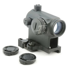 JJ Airsoft 1x24 Red Dot with QD Mount (Black) IPSC
