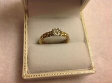 Roberto Coin 18k Yellow and White Gold Woven Diamond Station Ring