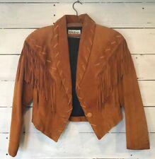 Vintage Phoenix USA Suede Leather Fringe Jacket Women's Medium
