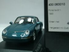 WOW EXTREMELY RARE Porsche 993 911 Carrera 2 Coupe 1993 Green m 1:43 Minichamps