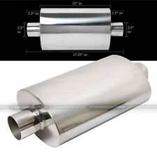 """For IS300 Tipless Weld On Muffler Exhaust Canister 2.5"""" In/Outlet"""
