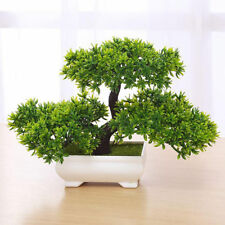 Bonsai Tree in Square Pot - Artificial Plant Decoration for Office/Home 18cm