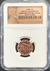 2009 1C Birth & Childhood Brilliant Uncirculated Lincoln NGC