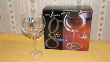 2 VERRES A VIN LUMINARC GRAND BOURGOGNE 57CL NEUF wine glass new Arques