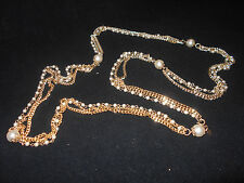Vintage Sarah Conventry Gold & Pearl Necklace