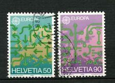 Svizzera 1988 SG # 1149-50 Europa Transport & Communications USATO Set #A 18075