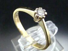 Damen-Ring-mit Zirkonia Besatz-585/Gold-mit Punze.Ringgr. 58/18,4mm-Ringkopf 4mm