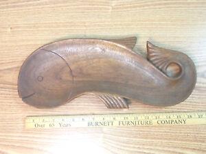 Nishan Toor (1880-1966) Vintage / Antique Wood Carved Fish Platter