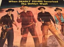 HELL CANYON OUTLAWS Original Movie Poster 1 Sheet Western 1957