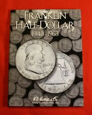 1948-63 FRANKLIN HALF DOLLARS G-AU NEW HARRIS BOOK FOLDER ALBUM all dates MM FB3