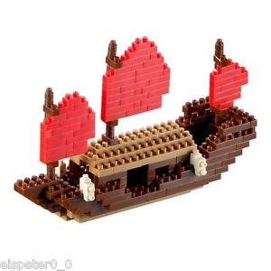 Brixies, Small Dragon Boat, 3D Puzzle, Mini Blocks 174 Pieces, Art. 200.036